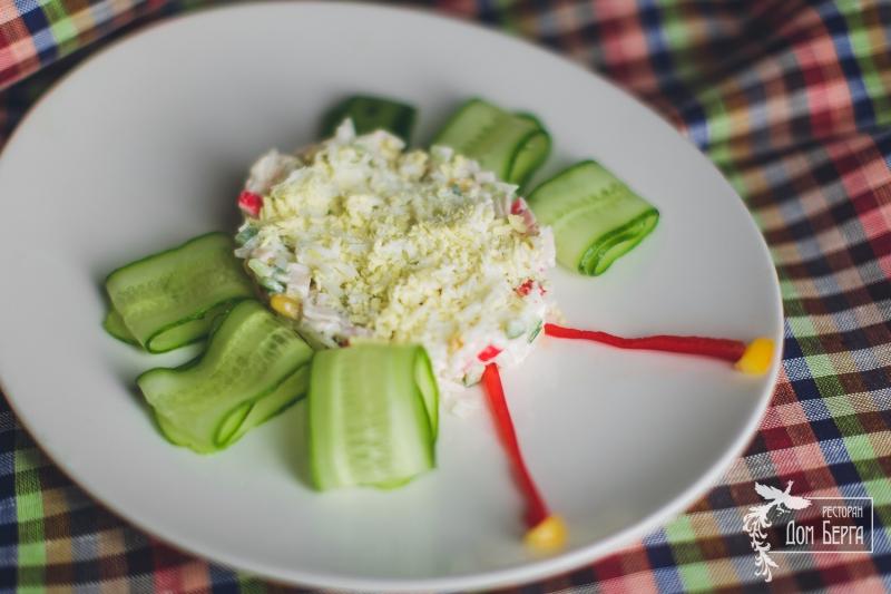 Горячий салат из кальмаров кулинарный рецепт с фотографиями